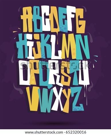 graffiti font vector