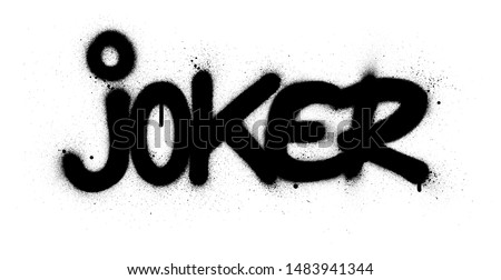 graffiti joker word sprayed in