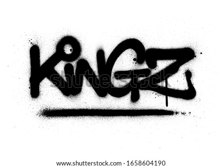 graffiti kingz word sprayed in