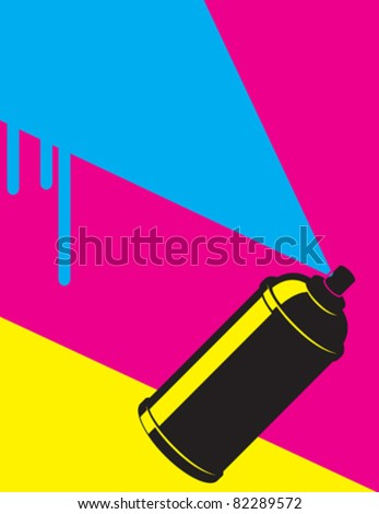 graffiti neon spray