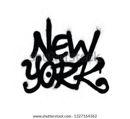 graffiti new york word sprayed
