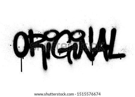 graffiti original word sprayed