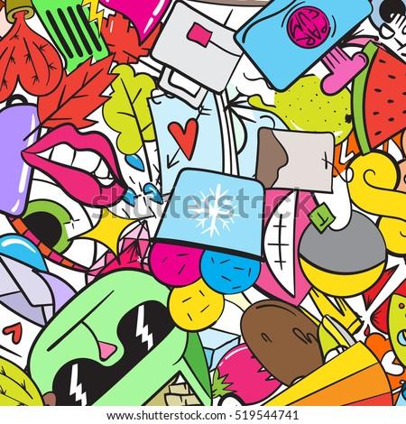 crazy graffiti vector - photo #19