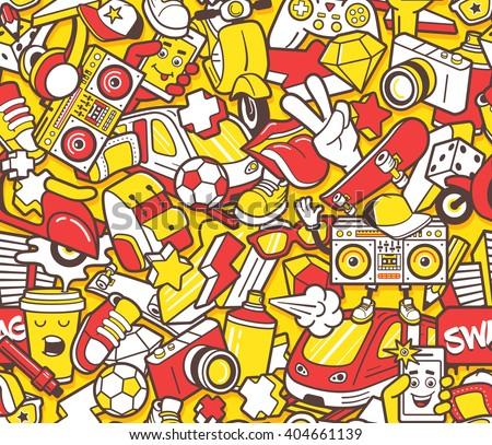graffiti seamless pattern with