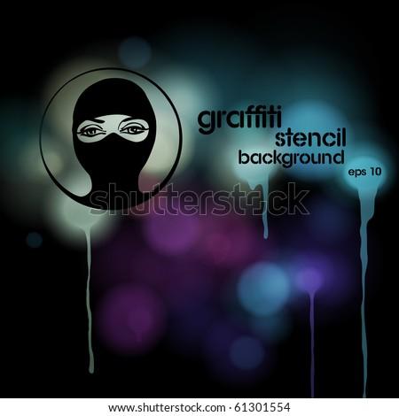 Graffiti stencil background, vector eps10