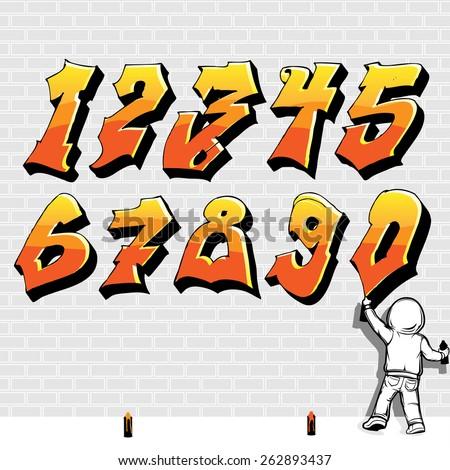 graffiti style font  fire like