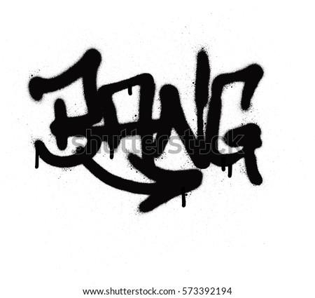 graffiti tag bang sprayed with