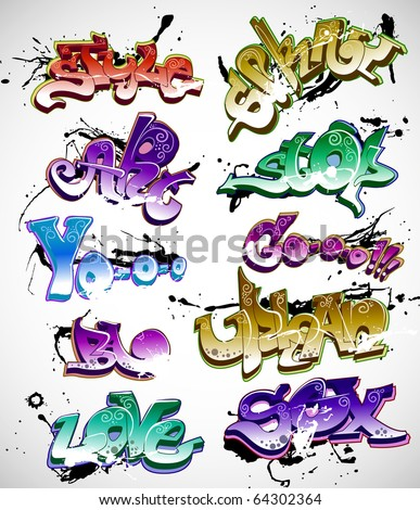 Graffiti vector - stock vector