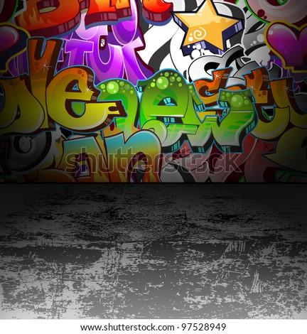 graffiti wall background urban