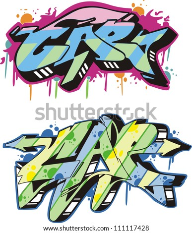 graffito text design   cap