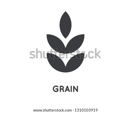 Grain Icon. Grain Glyph Design Concept. Agriculture, Farming and Gardening. Simple Element Vector illustration on white background.