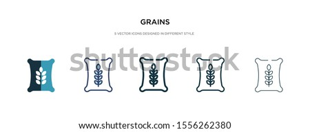 grains icon in different style