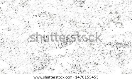Grainy Distress Grunge Brush Texture. Cartoon Cracked Noisy Surface Pattern Design. Overlay Grainy Style Texture. Black and White Monochrome Print Design Background.