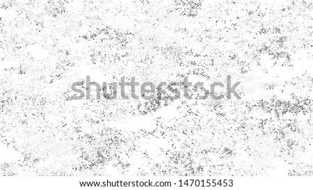 Grainy Distress Grunge Brush Texture. Cartoon Cracked Noisy Surface Pattern Design. Overlay Grainy Style Texture. Black and White Monochrome Print Design Background.