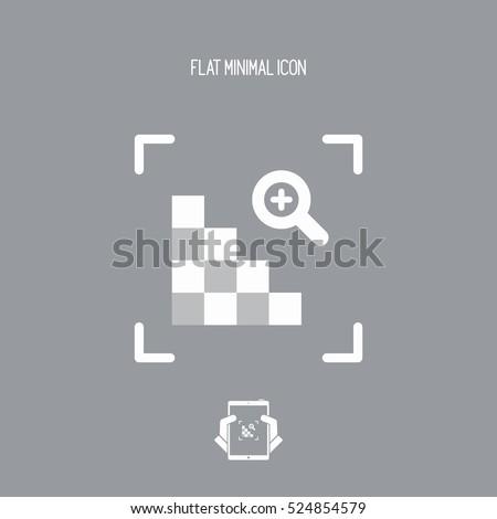Grainy image - minimal flat icon
