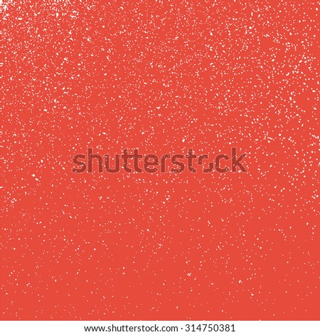 grainy white texture on a red