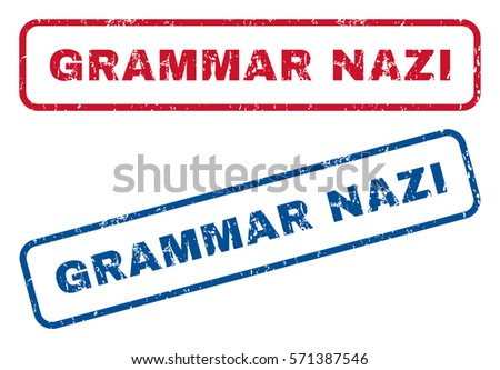 grammar nazi text rubber seal
