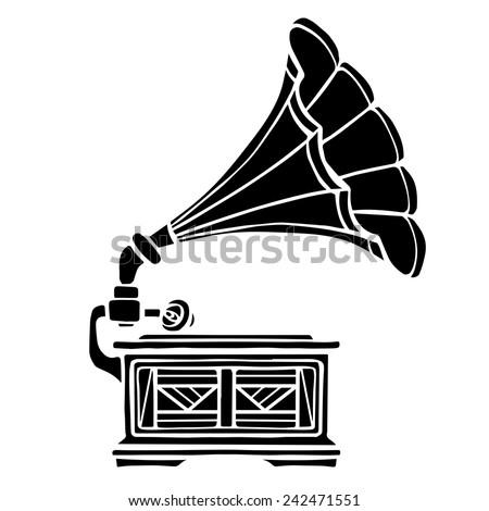 gramophone closeup  black music