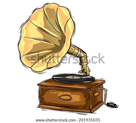 gramophone drawing #201935035