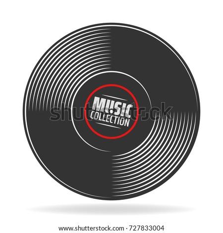 gramophone vinyl record with