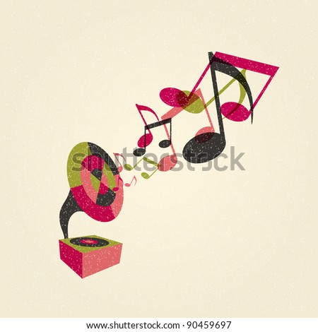 gramophone with music
