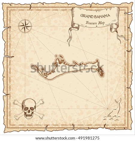 grand bahama old pirate map