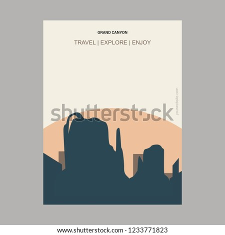 Grand Canyon Arizona, United States Vintage Style Landmark Poster Template