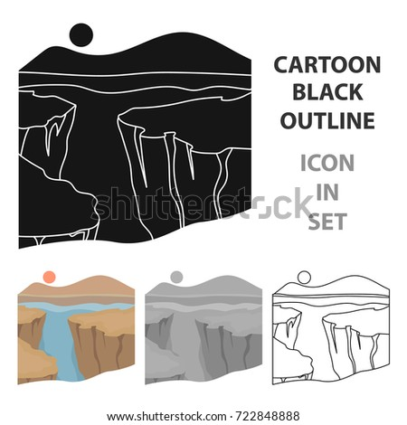 grand canyon icon in cartoon