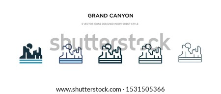 grand canyon icon in different