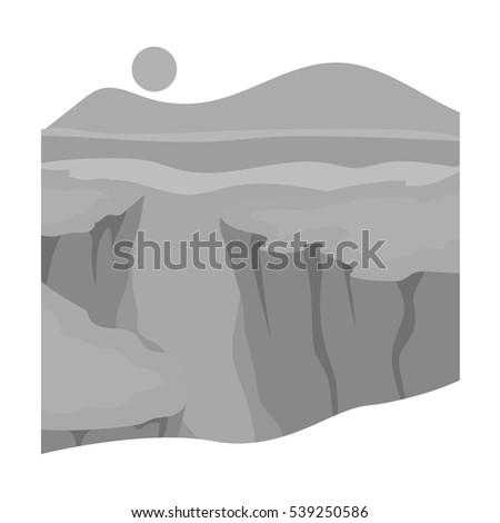 grand canyon icon in monochrome