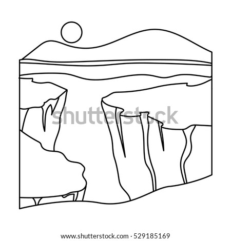 grand canyon icon in outline