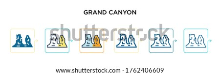 grand canyon vector icon in 6