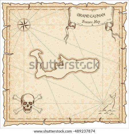 grand cayman old pirate map