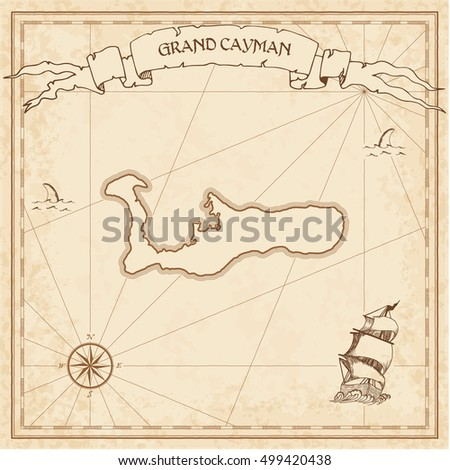 grand cayman old treasure map