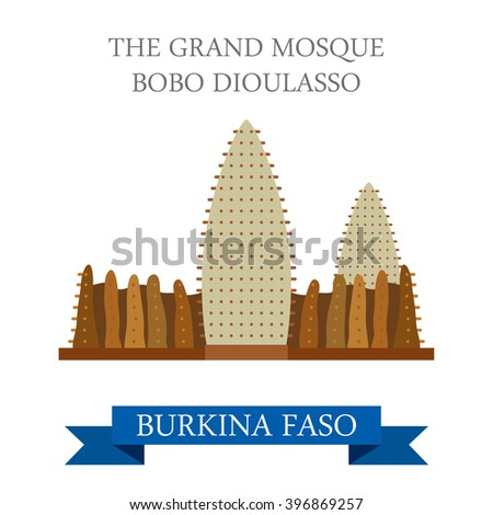 grand mosque bobo dioulasso in