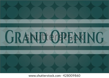 Grand Opening colorful banner