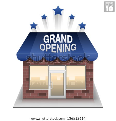 Grand opening storefront brick and mortar business
