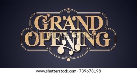grand opening vector banner ...