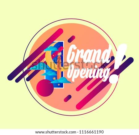 grand opening  vector beautiful