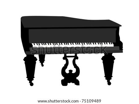grand piano - stock vector