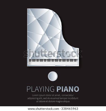 grand piano and chair music