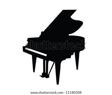 Grand Piano Vector Illustration