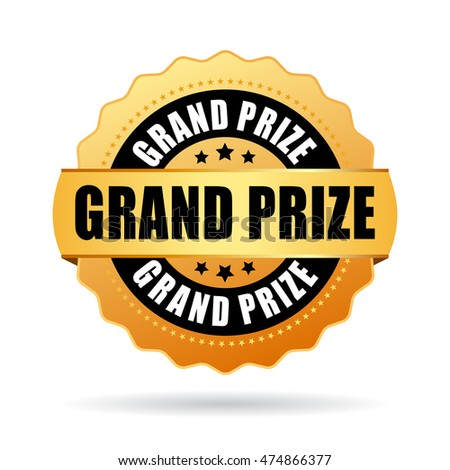 Grand prize gold medal vector illustration isolated on white background