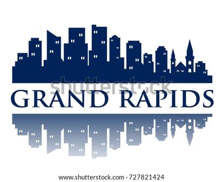 grand rapids city skyline logo
