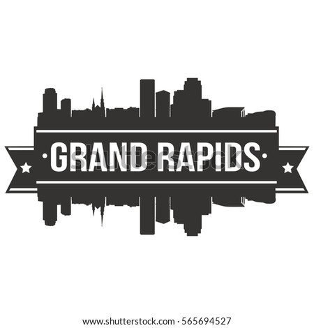grand rapids skyline stamp