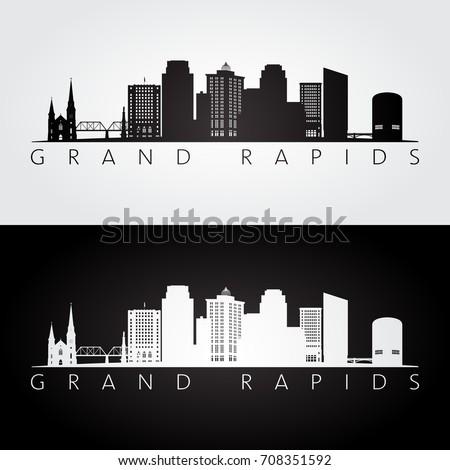 grand rapids usa skyline and