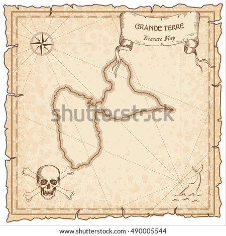 grande terre old pirate map