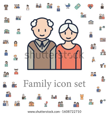 Grandfather and grandmother icon. family icons universal set for web and mobile Stockfoto ©