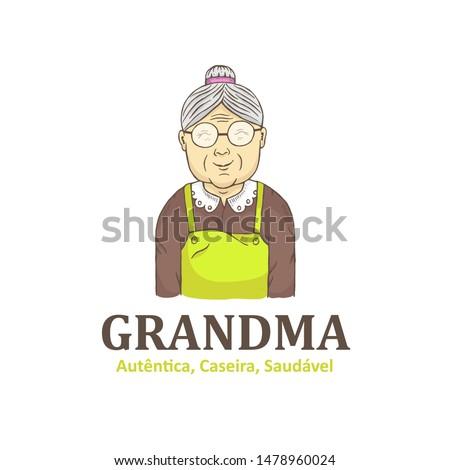 Grandma hand drawn logo design