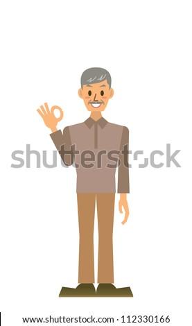grandpa - stock vector